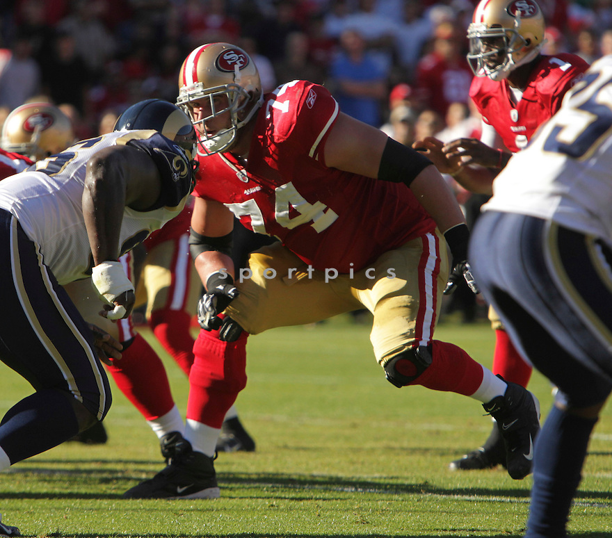 JOE STALEY, of the  San Francisco 49ers  in action during 49ers game against the ST. Louis Rams  on November 14, 2010 at Candlestick Park in San Francisco, California..San Francisco 49ers  beat the  ST. Louis Rams 23- 20.
