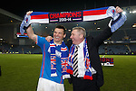 Lee McCulloch and Ally McCoist celebrate after the match