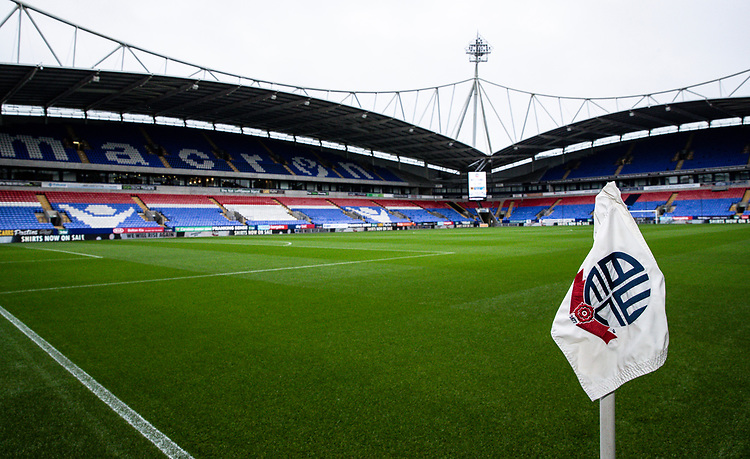 A general view of the University of Bolton stadium <br /> <br /> Photographer Andrew Kearns/CameraSport<br /> <br /> The EFL Sky Bet League One - Bolton Wanderers v Blackpool - Monday 7th October 2019 - University of Bolton Stadium - Bolton<br /> <br /> World Copyright © 2019 CameraSport. All rights reserved. 43 Linden Ave. Countesthorpe. Leicester. England. LE8 5PG - Tel: +44 (0) 116 277 4147 - admin@camerasport.com - www.camerasport.com