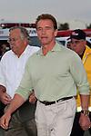 Arnold Schwarzenegger tours the fires in Malibu.25 November 2007.Photo by Nina Prommer/Milestone Photo