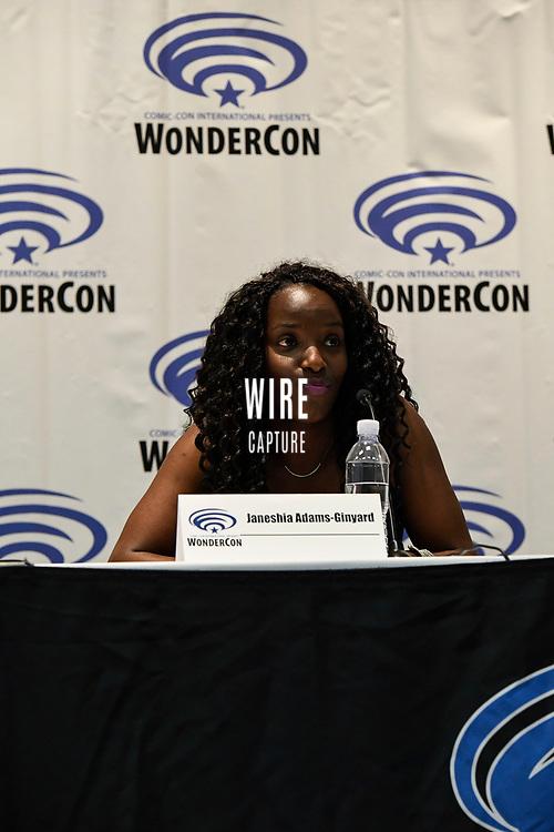 Janeshia Adams-Ginyard at Wondercon in Anaheim Ca. March 31, 2019