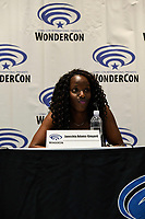 Janeshia Adams-Ginyard at Wondercon in Anaheim Ca. March 31, 2019
