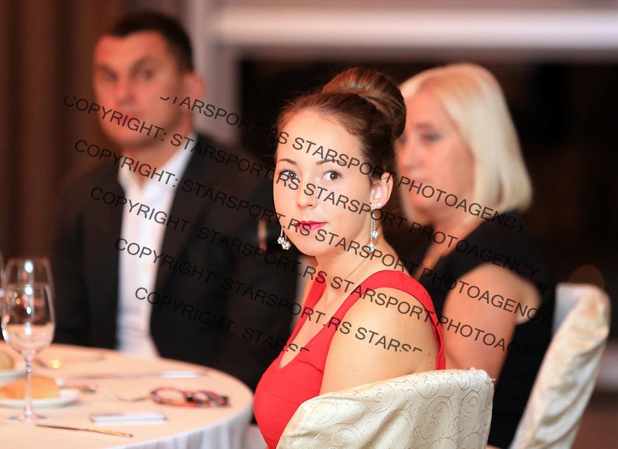 Tennis Tenis<br /> Fed Cup World Group play-off<br /> Rumunija v Srbija<br /> Official dinner<br /> Nina Stojanovic<br /> Bucharest, 04.17.2014.<br /> foto: Srdjan Stevanovic/Starsportphoto &copy;