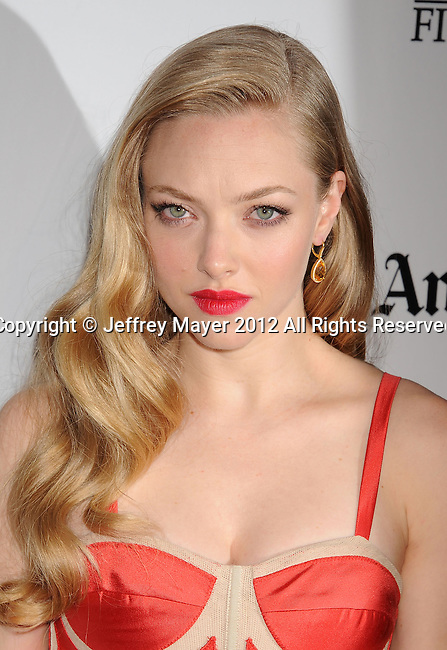 BEVERLY HILLS, CA - OCTOBER 22: Amanda Seyfried  arrives at the 16th Annual Hollywood Film Awards Gala presented by The Los Angeles Times held at The Beverly Hilton Hotel on October 22, 2012 in Beverly Hills, California.