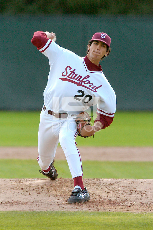 11 February 2007: Stanford Cardinal Jeffrey Inman during Stanford's 9-2 win in the first double header game against the Fresno State Bulldogs at Sunken Diamond in Stanford, CA.