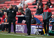 24th March 2018, The Valley, London, England;  English Football League One, Charlton Athletic versus Plymouth Argyle; Charlton caretaker manager Lee Bowyer shouting instructions to his players from the touchline