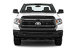 Car photography straight front view of a 2015 Toyota Tundra 5.7 Auto SR Regular Cab 2 Door Truck Front View