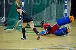 Almere - Zaalhockey  Amsterdam-HGC (v) . Elsemiek Groen scoort.   TopsportCentrum Almere.    COPYRIGHT KOEN SUYK