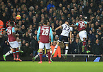 West Ham's Michail Antonio scoring his sides opening goal<br /> <br /> - English Premier League - West Ham Utd vs Tottenham  Hotspur - Upton Park Stadium - London - England - 2nd March 2016 - Pic David Klein/Sportimage