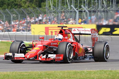 04.07.2015.  Silverstone, England. Formula 1 British Grand Prix qualifying. Sebastian Vettel, Scuderia Ferrari.