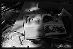 Six Day war victory album among the rubble of Ganei Tal. Photo by Quique Kierszenbaum