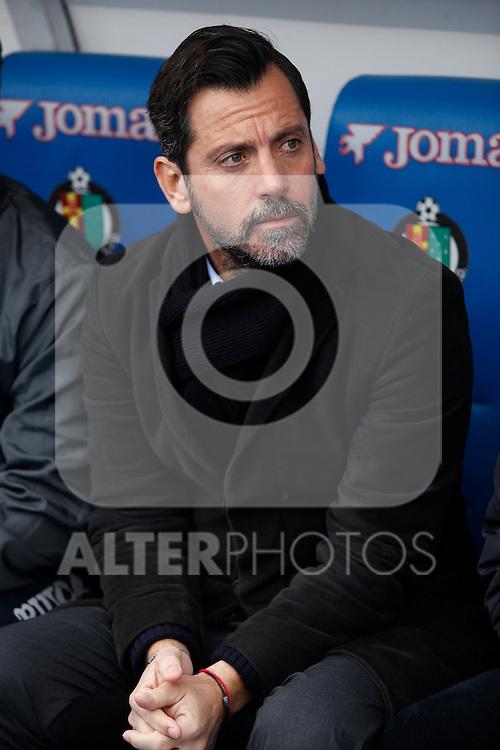 Getafe´s coach Quique Sanchez Flores during La Liga match at Coliseum Alfonso Perez stadium  in Getafe, Spain. January 18, 2015. (ALTERPHOTOS/Victor Blanco)