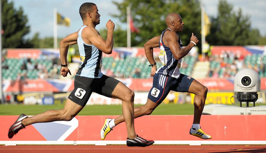 Photo: Ady Kerry/Richard Lane Photography..Aviva World Trials & UK Championships athletics. 12/07/2009. .Marlon Devonish 200m semi final