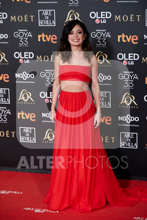 Anna Castillo attends to 33rd Goya Awards at Fibes - Conference and Exhibition  in Seville, Spain. February 02, 2019. (ALTERPHOTOS/A. Perez Meca)