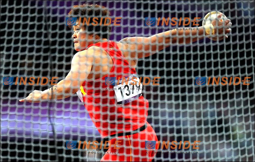 Li Yanfeng (CHI) - Lancer de Disque  .Olimpiadi Londra 2012.London 2012 Olympic Games.foto Insidefoto - Italy ONLY