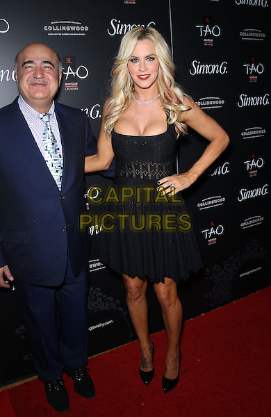 Guest &amp; Jenny McCarthy<br /> Annual Simon G Soiree at TAO inside The Venetian Resort Hotel and Casino, Las Vegas, NV, USA, 1st June 2013.<br /> full length black dress hand on hip <br /> CAP/ADM/MJT<br /> &copy; MJT/AdMedia/Capital Pictures
