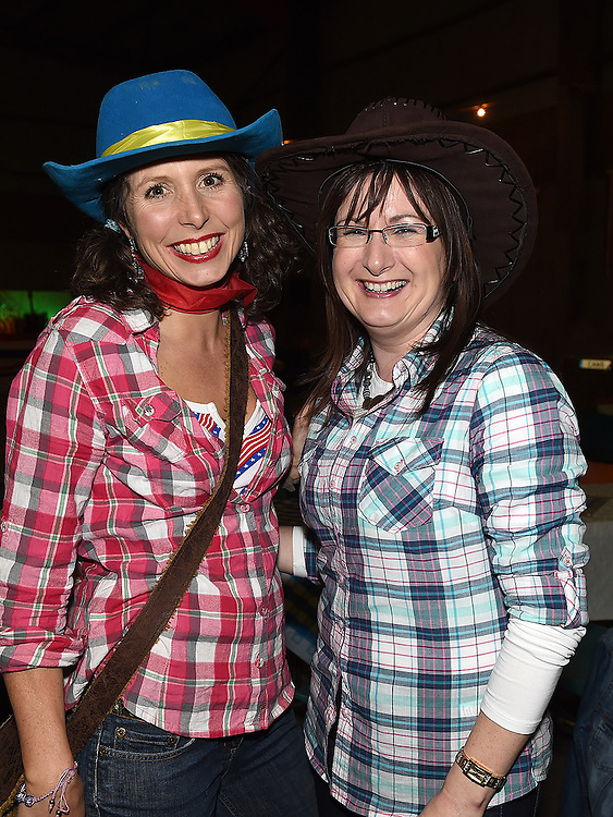Aisling Halpenny and Theresa Durnin pictured at the barn dance at Oberstown farm. Photo:Colin Bell/pressphotos.ie