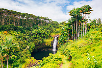 Kulaniapia Falls, Hilo, Big Island of Hawai'i.