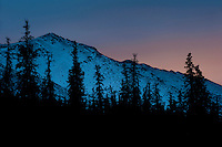 Evening glow above Eagle River, Alaska.