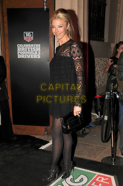 TAMARA BECKWITH .Spotted during London Fashion Week, London, England..September 15th, 2008.LFW full length black lace dress sleeves .CAP/CAS.©Bob Cass/Capital Pictures.