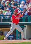 11 March 2016: Philadelphia Phillies outfielder Cedric Hunter in action during a Spring Training pre-season game against the Atlanta Braves at Champion Stadium in the ESPN Wide World of Sports Complex in Kissimmee, Florida. The Phillies defeated the Braves 9-2 in Grapefruit League play. Mandatory Credit: Ed Wolfstein Photo *** RAW (NEF) Image File Available ***