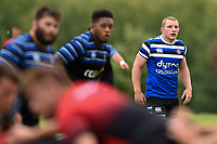 Sam Underhill of Bath Rugby looks on. Bath Rugby pre-season training on August 8, 2018 at Farleigh House in Bath, England. Photo by: Patrick Khachfe / Onside Images
