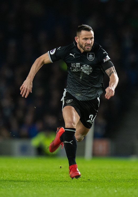 Burnley's Phillip Bardsley<br /> <br /> Photographer David Horton/CameraSport<br /> <br /> The Premier League - Brighton and Hove Albion v Burnley - Saturday 9th February 2019 - The Amex Stadium - Brighton<br /> <br /> World Copyright &copy; 2019 CameraSport. All rights reserved. 43 Linden Ave. Countesthorpe. Leicester. England. LE8 5PG - Tel: +44 (0) 116 277 4147 - admin@camerasport.com - www.camerasport.com