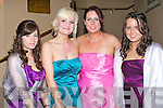 BELLS OF THE BALL: Dressed in style at the St Joseph's Secondary School, Ballybunion Debs in the Abbeygate Hotel on Saturday l-r: Danielle O'Sullivan, Robyn Boyd, Carolann Nash and Josephine Mulvihill.   Copyright Kerry's Eye 2008