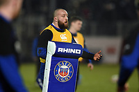 Tom Dunn of Bath Rugby. Premiership Rugby Cup match, between Bath Rugby and Gloucester Rugby on February 3, 2019 at the Recreation Ground in Bath, England. Photo by: Patrick Khachfe / Onside Images