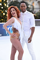 Lemar &amp; Melody Le Moal at the &quot;Dancing on Ice&quot; launch photocall at the Natural History Museum, London, UK. <br /> 19 December  2017<br /> Picture: Steve Vas/Featureflash/SilverHub 0208 004 5359 sales@silverhubmedia.com