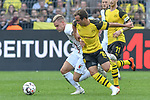 06.10.2018, Signal Iduna Park, Dortmund, GER, DFL, BL, Borussia Dortmund vs FC Augsburg, DFL regulations prohibit any use of photographs as image sequences and/or quasi-video<br /> <br /> im Bild v. li. im Zweikampf Philipp Max (#31, FC Augsburg) Mario G&ouml;tze / Goetze (#10, Borussia Dortmund)  <br /> <br /> Foto &copy; nph/Horst Mauelshagen