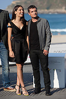 US actor Josh Hutcherson and Spanish actress Claudia Traisac present the film: 'Paradise Lost' during the 62st San Sebastian Film Festival in San Sebastian, Spain. September 26, 2014. (ALTERPHOTOS/Caro Marin) /NortePhoto.com
