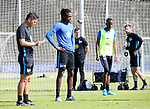 04.09.2019, Sportpark, Berlin, GER, 1.FBL, DFL,, Hertha BSC Training,<br /> DFL, regulations prohibit any use of photographs as image sequences and/or quasi-video<br /> im Bild Cheftrainer (Head Coach) Ante Comic (Hertha BSC Berlin), Dedryck Boyata (Hertha BSC Berlin #20)<br /> <br />       <br /> Foto © nordphoto / Engler