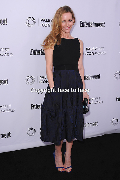 BEVERLY HILLS, CA - MARCH 10:  Leslie Mann arrives at the 2014 PaleyFest Icon Award to Judd_Apatow at the Paley Center for the Media on March 10, 2014 in Beverly Hills, California.<br />