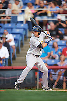 Trenton Thunder outfielder Jake Cave (8) at bat during a game against the Binghamton Mets on August 8, 2015 at NYSEG Stadium in Binghamton, New York.  Trenton defeated Binghamton 4-2.  (Mike Janes/Four Seam Images)