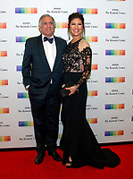 Les Moonves, Chairman of the Board, President, and Chief Executive Officer of CBS Corporation, and Julie Chen arrive for the formal Artist's Dinner honoring the recipients of the 40th Annual Kennedy Center Honors hosted by United States Secretary of State Rex Tillerson at the US Department of State in Washington, D.C. on Saturday, December 2, 2017. The 2017 honorees are: American dancer and choreographer Carmen de Lavallade; Cuban American singer-songwriter and actress Gloria Estefan; American hip hop artist and entertainment icon LL COOL J; American television writer and producer Norman Lear; and American musician and record producer Lionel Richie. Photo Credit: Ron Sachs/CNP/AdMedia