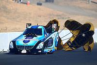 Jul. 26, 2014; Sonoma, CA, USA; NHRA funny car driver Jeff Diehl during qualifying for the Sonoma Nationals at Sonoma Raceway. Mandatory Credit: Mark J. Rebilas-