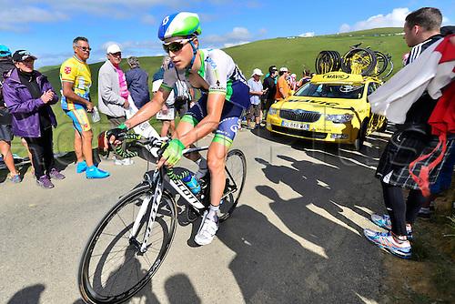 22.07.2014. Carcassonne to Bagnères-de-Luchon, France. Tour de France cycling championship, stage 16.   KEUKELEIRE Jens (BEL - ORICA GreenEDGE) ascends the Port de Bales