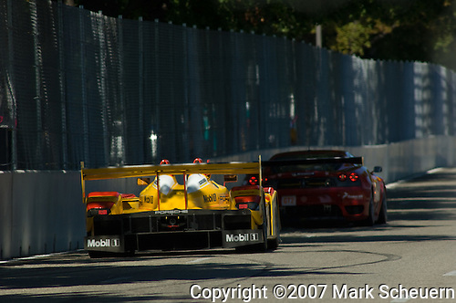 31 August 2007: The Penske Motorsports Porsche RS Spyder driven by Romain Dumas (FRA) and Timo Bernhard (DEU) at the Detroit Sports Car Challenge presented by Bosch, Detroit, MI
