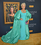 "a_ Helen Mirren 002 attends the Los Angeles Premiere Of The New HBO Limited Series ""Catherine The Great"" at The Billy Wilder Theater at the Hammer Museum on October 17, 2019 in Los Angeles, California."