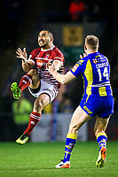 Picture by Alex Whitehead/SWpix.com - 09/03/2017 - Rugby League - Betfred Super League - Warrington Wolves v Wigan Warriors - Halliwell Jones Stadium, Warrington, England - Wigan's Thomas Leuluai is tackled by Warrington's Mike Cooper.