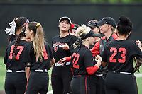 NWA Democrat-Gazette/CHARLIE KAIJO Northside High School players react during the 6A State Softball Tournament, Thursday, May 9, 2019 at Tiger Athletic Complex at Bentonville High School in Bentonville. Rogers Heritage High School lost to Northside High School 8-6