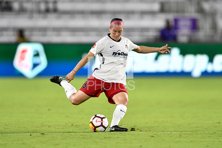 Orlando, FL - Saturday July 07, 2018: Whitney Church during the second half of a regular season National Women's Soccer League (NWSL) match between the Orlando Pride and the Washington Spirit at Orlando City Stadium. Orlando defeated Washington 2-1.