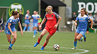 Portland, OR - Saturday April 29, 2017: Lindsey Horan during a regular season National Women's Soccer League (NWSL) match between the Portland Thorns FC and the Chicago Red Stars at Providence Park.