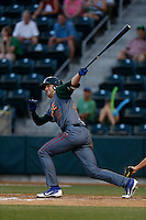 Kris Bryant #25 of the Boise Hawks bats against the Eugene Emeralds at PK Park on July 25, 2013 in Eugene, Oregon. Eugene defeated Boise, 5-4. (Larry Goren/Four Seam Images)