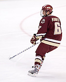 Tim Kunes (BC - 6) - The Boston College Eagles defeated the University of Vermont Catamounts 4-0 in the Hockey East championship game on Saturday, March 22, 2008, at TD BankNorth Garden in Boston, Massachusetts.