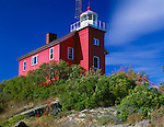 Marquette County, MI<br /> Marquettee harbor Light stands above Lighthouse Point on Lake Superior