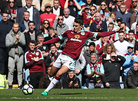 Burnley's Matthew Lowton<br /> <br /> Photographer Rachel Holborn/CameraSport<br /> <br /> The Premier League - Burnley v Manchester United - Sunday 23rd April 2017 - Turf Moor - Burnley<br /> <br /> World Copyright &copy; 2017 CameraSport. All rights reserved. 43 Linden Ave. Countesthorpe. Leicester. England. LE8 5PG - Tel: +44 (0) 116 277 4147 - admin@camerasport.com - www.camerasport.com
