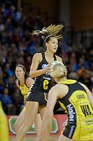 Courtney Tairi in action during the ANZ Championship 2014 - Haier Pulse v Waikato Magic at Te Rauparaha  Arena Centre, Porirua, Wellington, New Zealand on Monday 5 May 2014. <br /> Photo by Masanori Udagawa. <br /> www.photowellington.photoshelter.com.