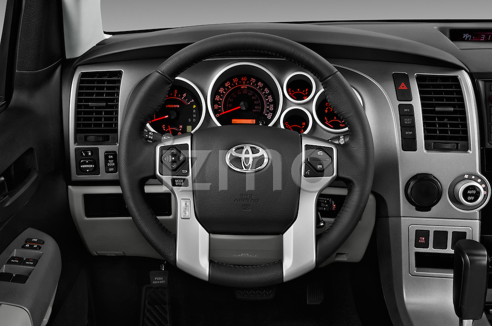 Car pictures of steering wheel view of a 2016 Toyota Sequoia 5.7-Auto-SR5 5 Door SUV Steering Wheel